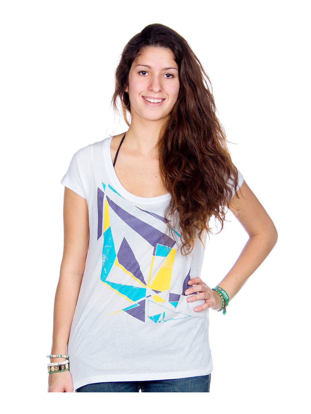 Falling Water Scoop Tee SS Women