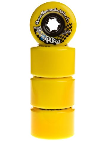 Race Formular 78A Yellow 70mm Wheels