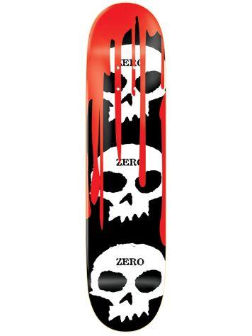 3 Skulls White Blood Black 8.125