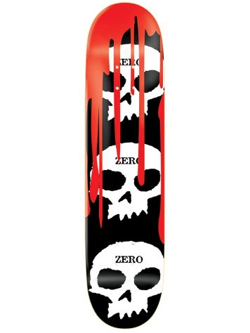 "Zero 3 Skulls White Blood Black 8.125"" Deck"