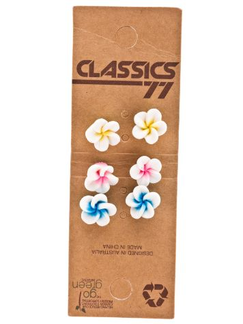 CLASSICS77 Calypso 3 Pack of Small Earrings
