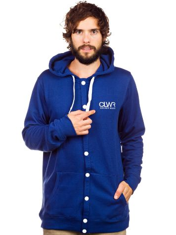 Colour Wear Button Zip Hoodie