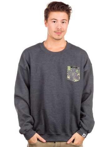 akomplice Weed Camo Pocket Crew Sweater