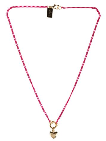 mint Heart Neon Chain Necklace