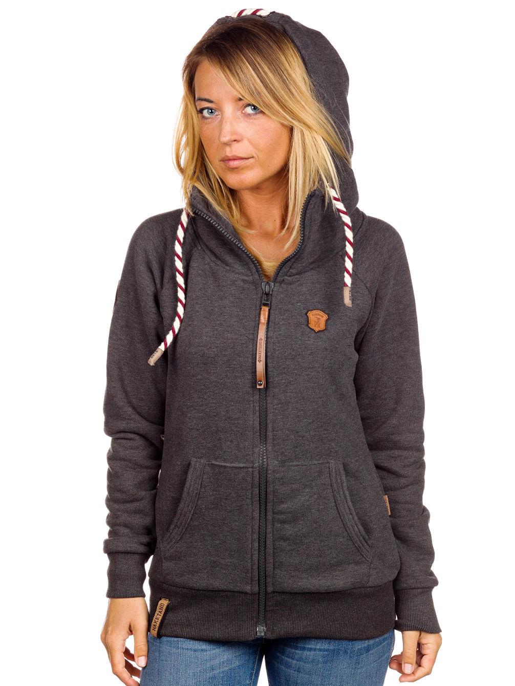 naketano side zip hoodie women 39 s gray cardigan sweater. Black Bedroom Furniture Sets. Home Design Ideas