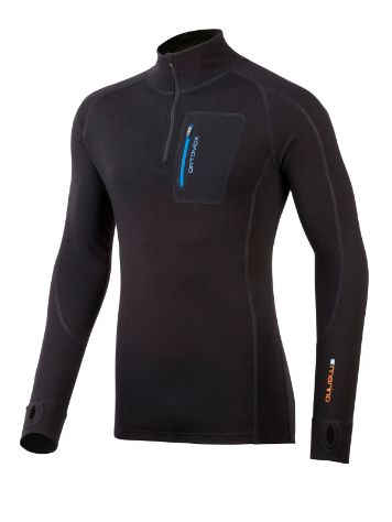 Ortovox Merino 280 Zip Neck Tech Tee LS