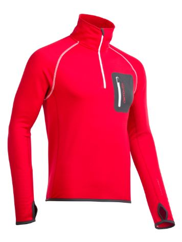 Ortovox Fleece Zip Neck Tech Tee Ls