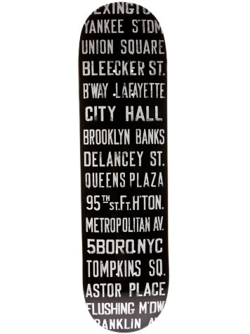 5boro Subway Roll Sign Stack Black 8.25 x 32