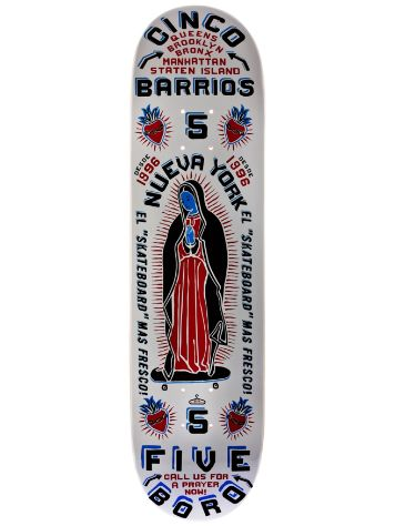 5boro Cinco Barrios White 8.5 x 32