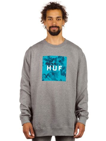 HUF Box Logo Fill Floral Crew Sweater