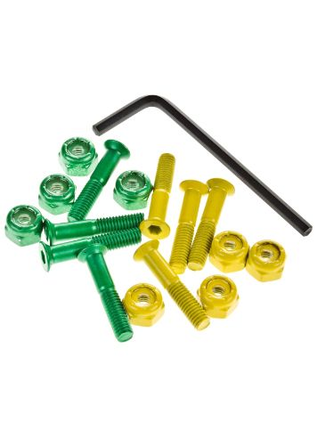 "Shake Junt All Green Yellow Inbus 1"" Bolts"
