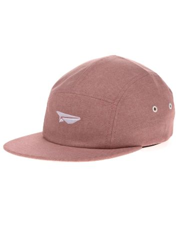 Benny Gold Paper Plane Logo Chambray 5 Panel Cap