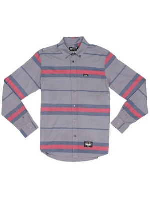 L1 Lockhart Shirt LS charcoal / navy / red Gr. M