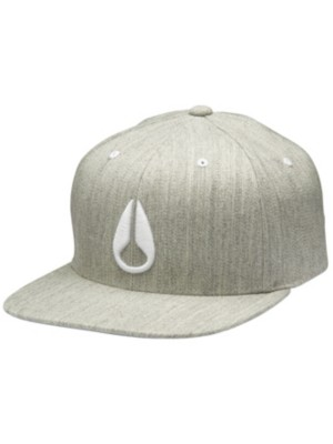 Nixon Deep Down FF Athletic Fit Hat heather gray / white Gr. LXL