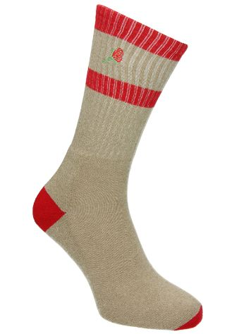 Empyre Emblem Rose Embroidery Socks