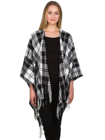 Empyre Girls Kelley Blk&Wht Plaid Kimino