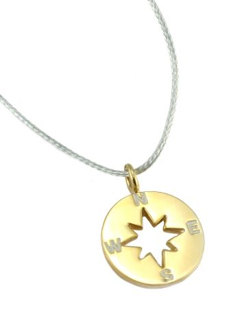 SilverSurf Wind Rose S Gold NEcklace