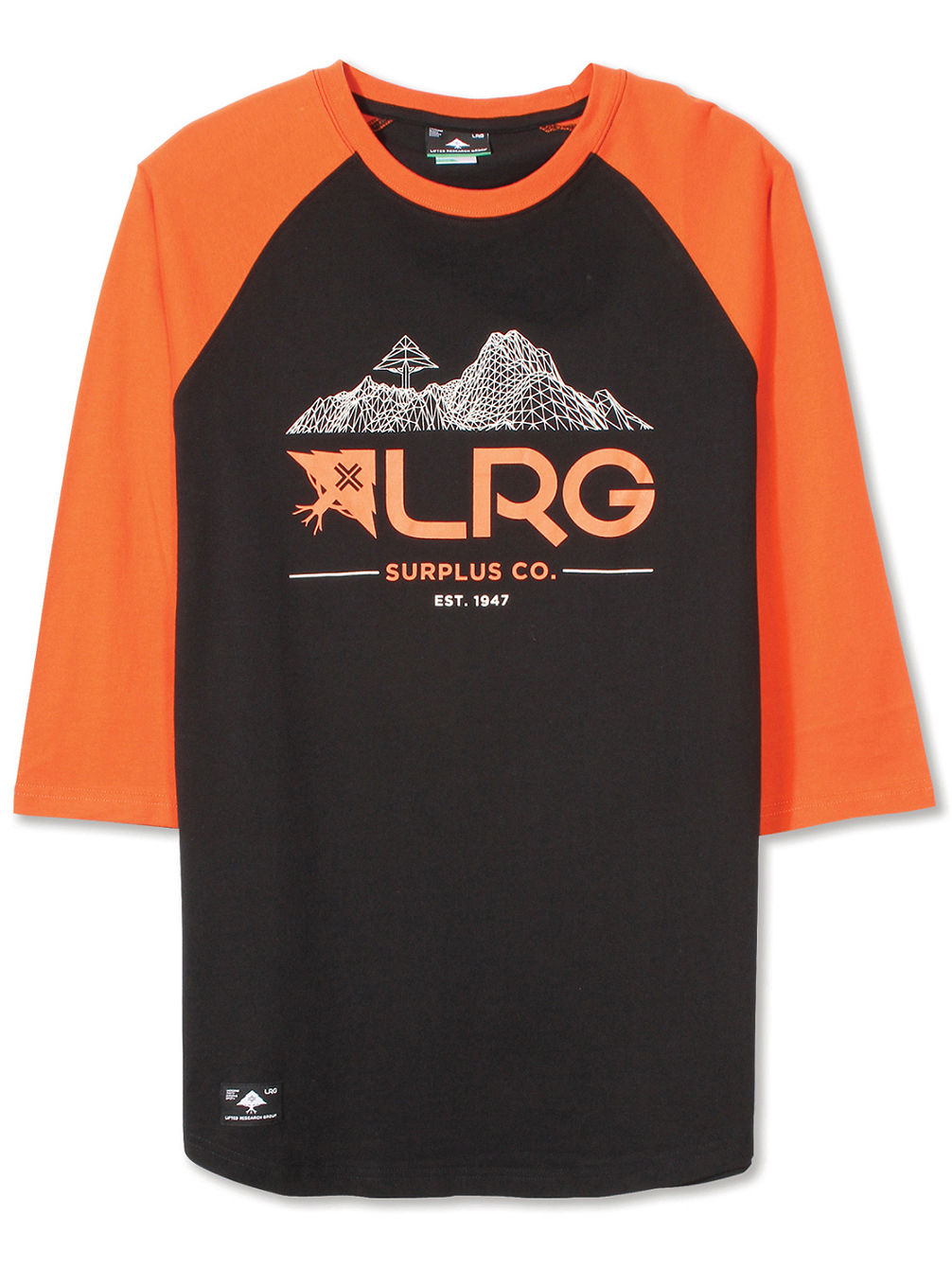 Buy lrg surplus co 3 4 t shirt ls online at blue for Online tee shirt companies
