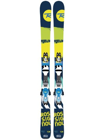 Rossignol Terrain Boys 140 + Xpress JR 7 Blue/Yellow 2017 Youth Freeski-Set