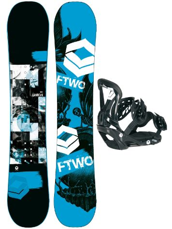 FTWO Union Blue 150 + Sonic SMO M Blk 2017 Snowboard Set
