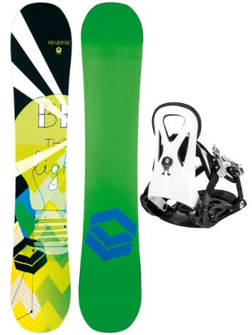 FTWO Reverse Rookie 110 + Rookie S 2017 Boys Snowboard Set