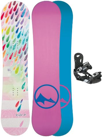 TRANS LTD Drops 120 + Eco XS/S 2017 Girls Snowboard Set