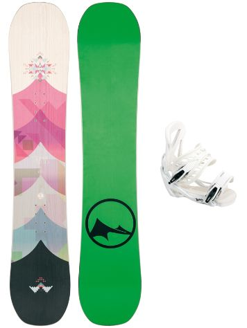 TRANS FR Wood 152 + Team SMO M Wht 2017 Snowboard Set
