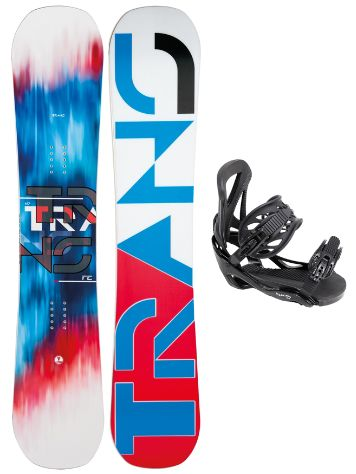 TRANS FE Rocker White 158 + Team SMU L Black 2017 Snowboard Set