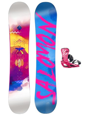 Salomon Lotus 138 + Rhythm Pink 2017 Snowboard Set
