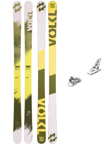 Völkl Step 163 + Squire 11 90mm White 2017 Freeski-Set