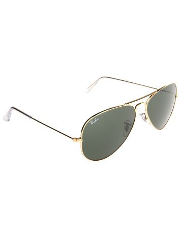 Ray Ban Aviator Large Metal Gold Solid Sonnenbrille