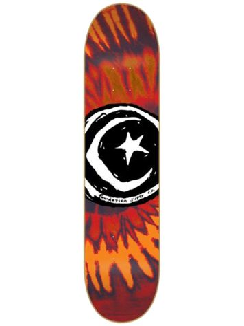 Foundation Star And Moon Tie Dye 7.875'' Skateboard
