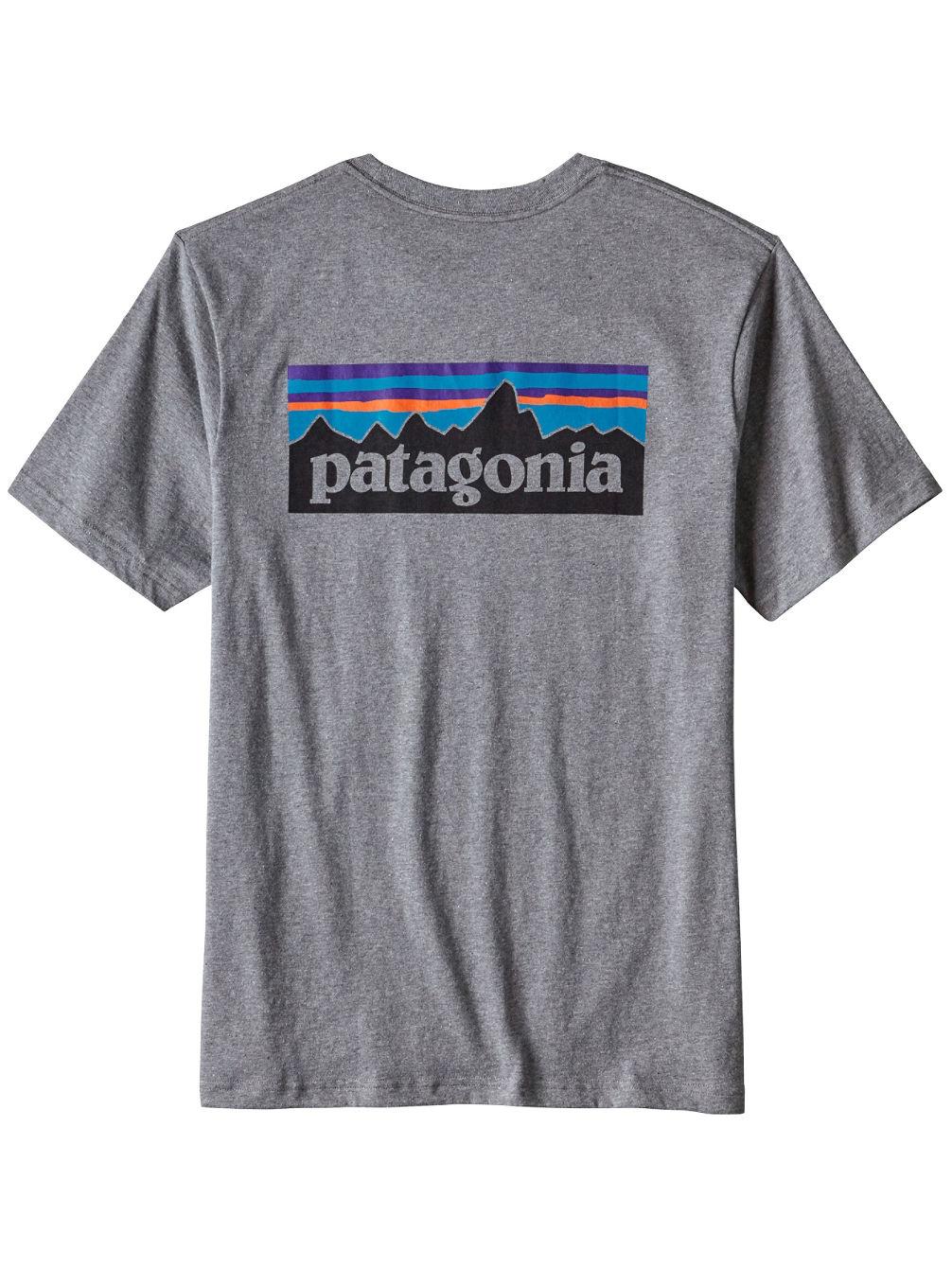 Patagonia P 6 Logo Pocket T Shirt Online Kaufen Bei Blue