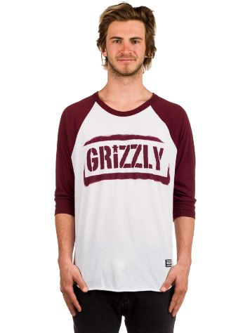 Grizzly Stencil Stamp Raglan T-Shirt LS