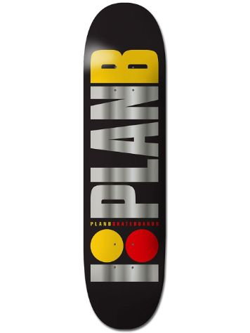 "Plan B Team Og Blk Ice 8.2"" Skateboard Deck"