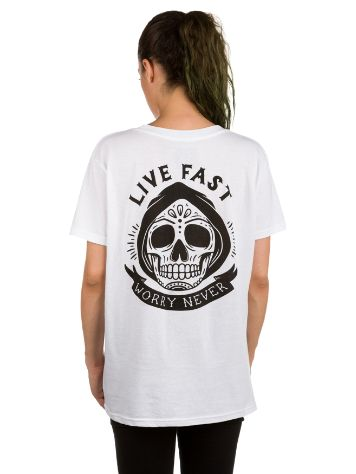 Broke and Stoked Live Fast Camiseta