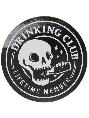 Broke and Stoked Drinking Club Sticker