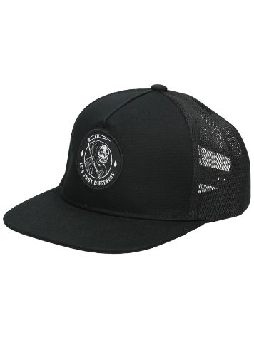 Broke and Stoked Its Just Business Trucker Cap
