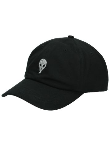 A.Lab Girls Black Lurex Alien Dad Cap