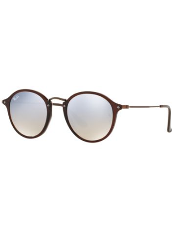 Ray Ban Round Fleck Shiny Transparent Brown
