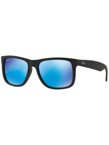 Ray Ban Justin Black Rubber Mirror Sonnenbrille
