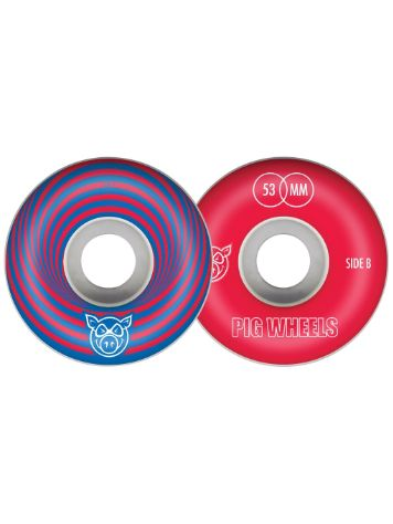 Pig Wheels Vertigo Red 53mm Wheels