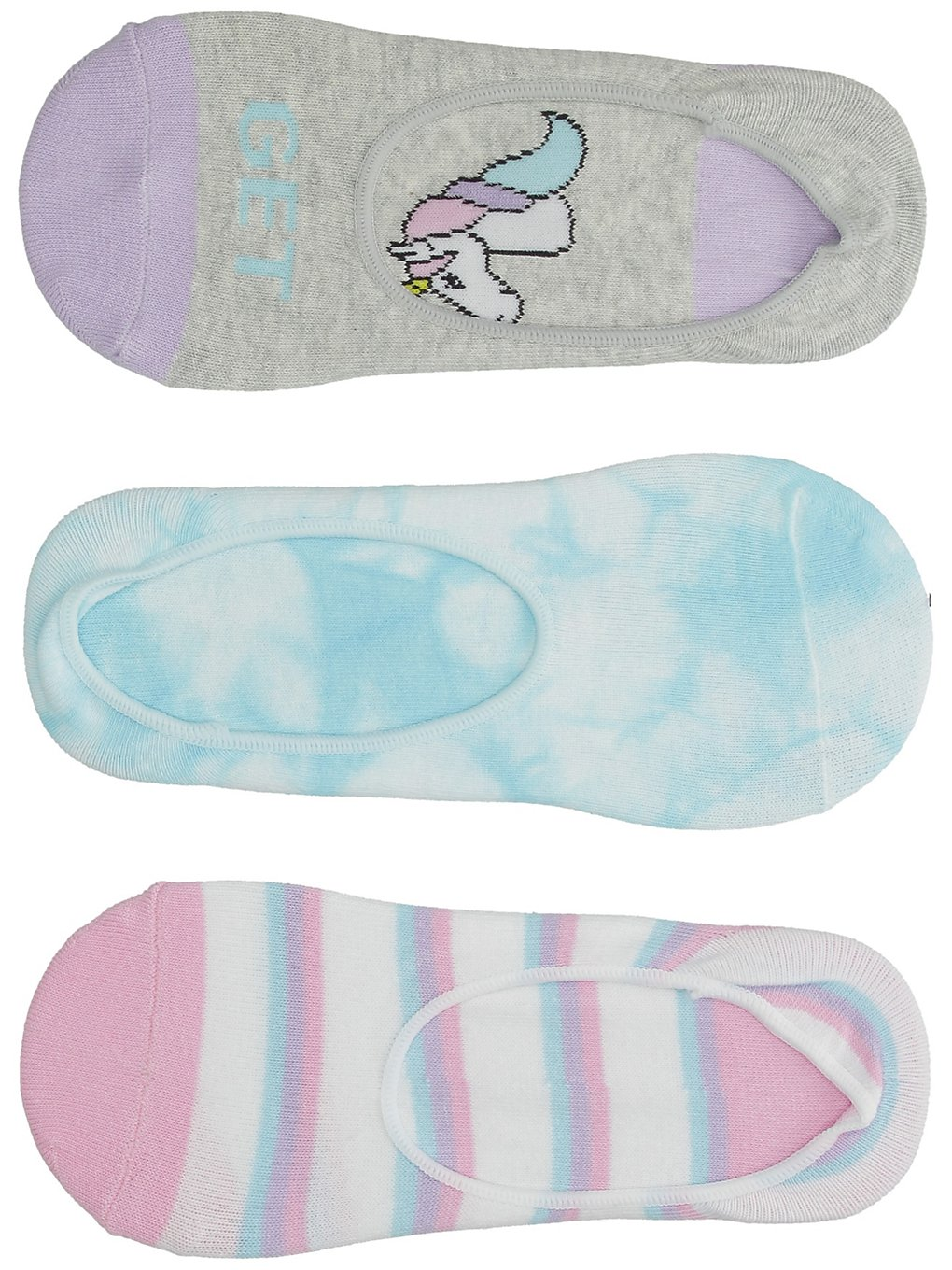 Image of A.Lab Stevie Get Real Unicorn No Show Socks