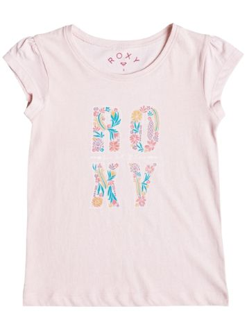 Roxy Rain Or Shine Flower Power Typo T-Shirt