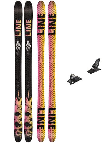 Line Tigersnake 178 + Squire 11 90mm black 2018 Freeski set