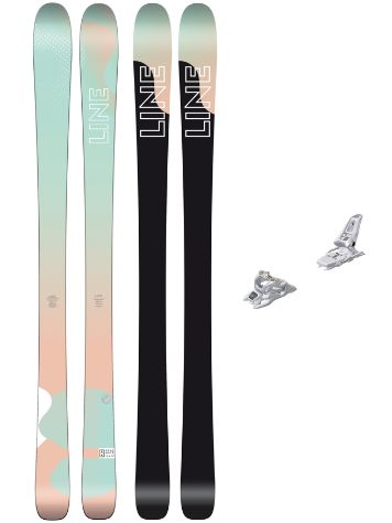 Line Soulmate 86 165 + Squire 11 90mm white 2018 Freeski-Set