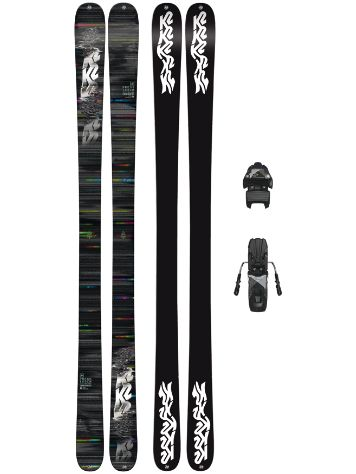 K2 Press 169 + Free Ten 85mm blk/wht 2018 Conjunto freeski