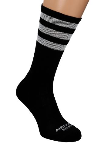 American Socks Back In Black Mid High Socks