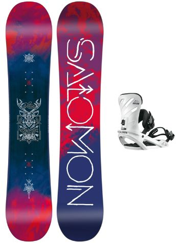 Salomon Lotus 146 + Rhythm White M 2018 Snowboard Set
