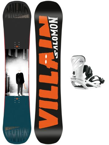 Salomon The Villain Grom 138+Rhythm Wht S 2018 Boys Conjunto snowboard